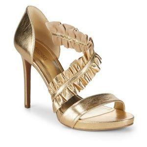 Michael kors gold heels size 6 New